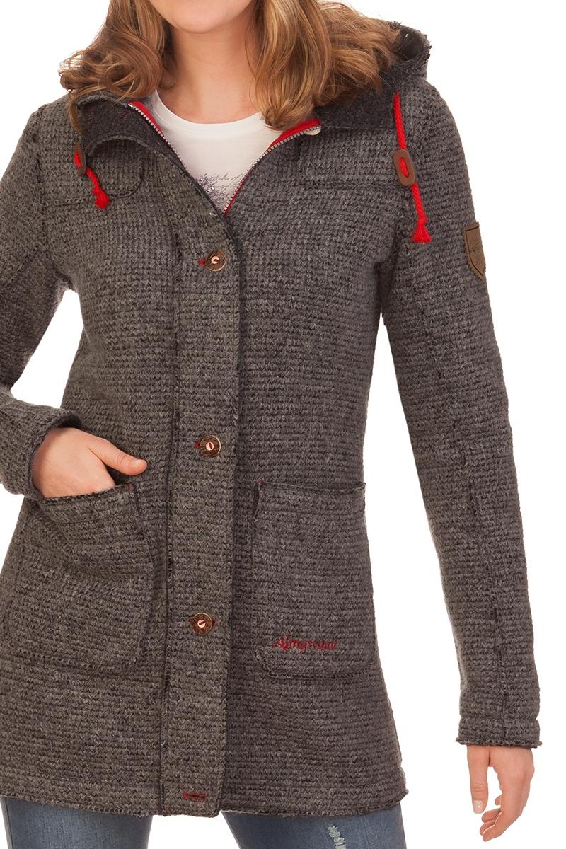 Sonderangebot für die ganze Familie Entdecken Sie die neuesten Trends Strickmantel Damen - HOCHNISSL - grau