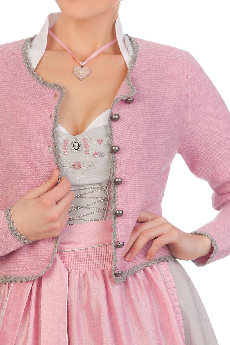 super popular 12bfe 12b23 Trachten Strickjacke - AMRUM - rosa, grau
