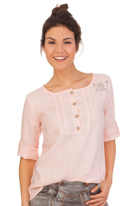 cf9d69657342 Produktabbildung Hangowear Trachten Blusenshirt - MERIDA - rosa