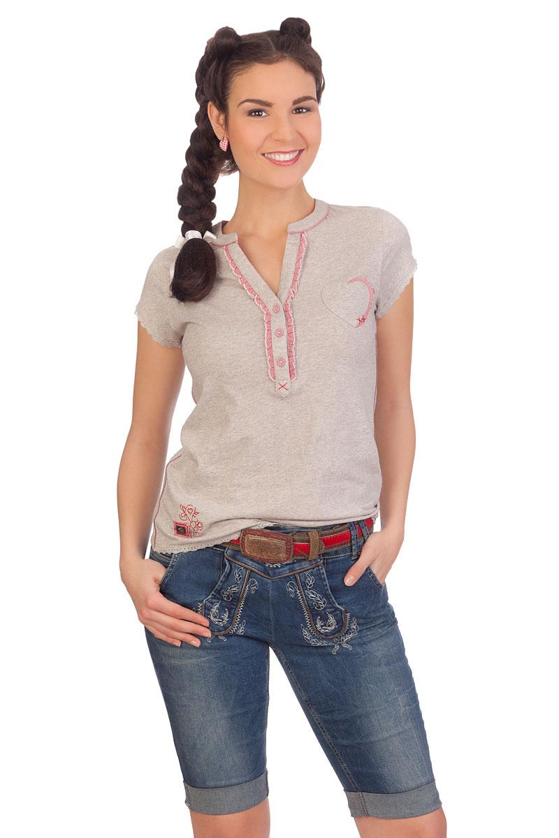 5aba58fae7bd Produktabbildung Hangowear Trachten Damen Bermuda Jeans - HELENA - blau.  für Zoom doppelt antippen