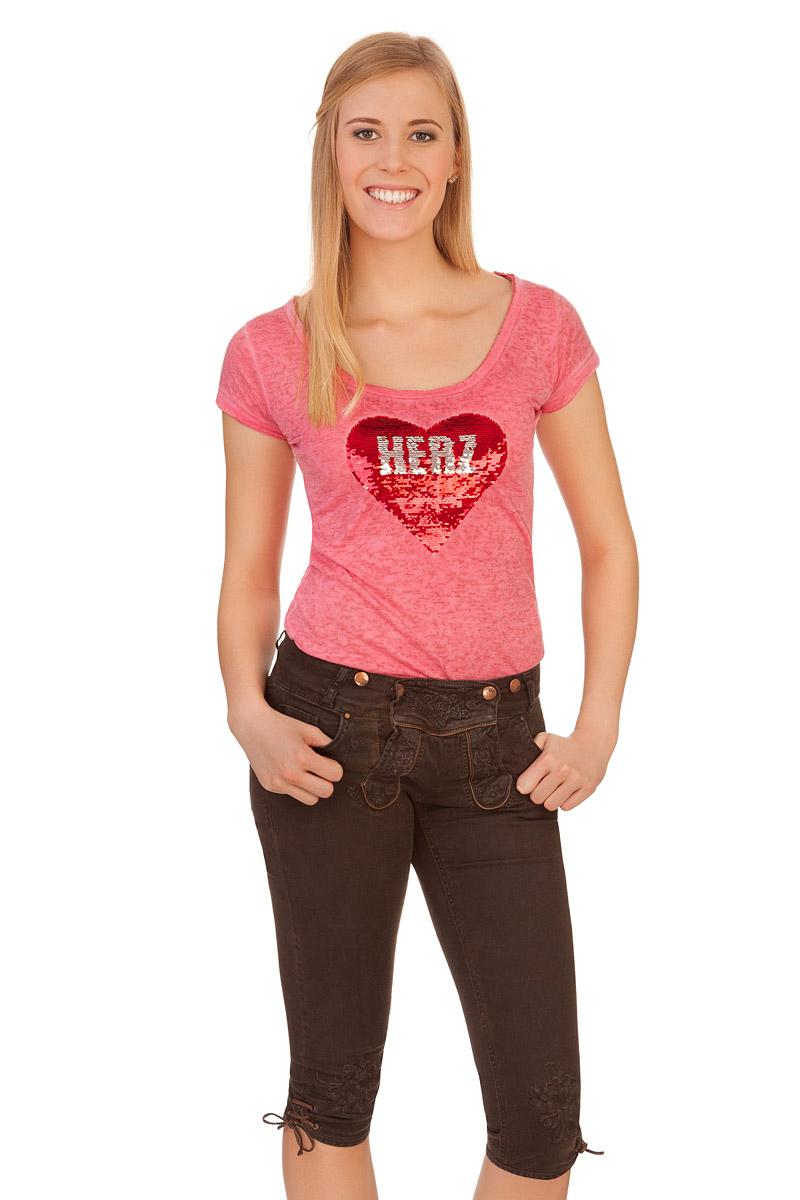 cf291d27180b41 Produktabbildung Hangowear Trachten Damen Jeans kniebund - OVIDA -  dunkelbraun. für Zoom doppelt antippen