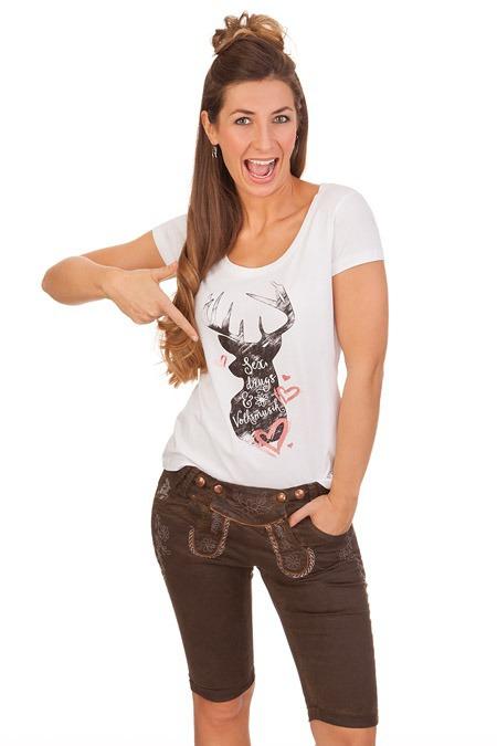 ebdc26773e86 Produktabbildung Hangowear Trachten Damen Jeanshose - COLOR BERMUDA -  dunkelbraun