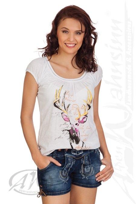 8ef050df83f8 Produktabbildung Hangowear Trachten Damen Jeanshose kurz - ANDREA - blau