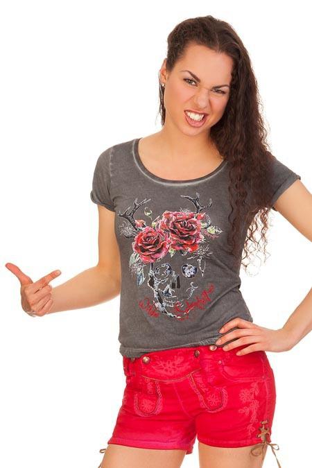 f61136288e9e4c Produktabbildung Hangowear Trachten Damen Jeanshose kurz - NELLY - beige