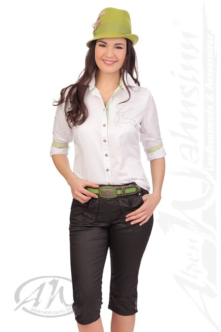 4541ecab60fa Produktabbildung Hangowear Trachten Damen Kniebundhose Jeans - JEANS -  schwarz