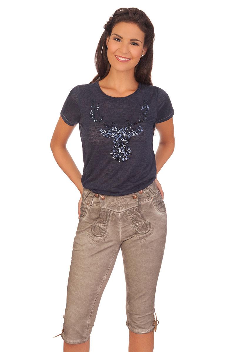 a96cc306f9f5 Produktabbildung Hangowear Trachten Damen Kniebundhose Jeans - NICOLE -  beige. für Zoom mit der Maus überfahren