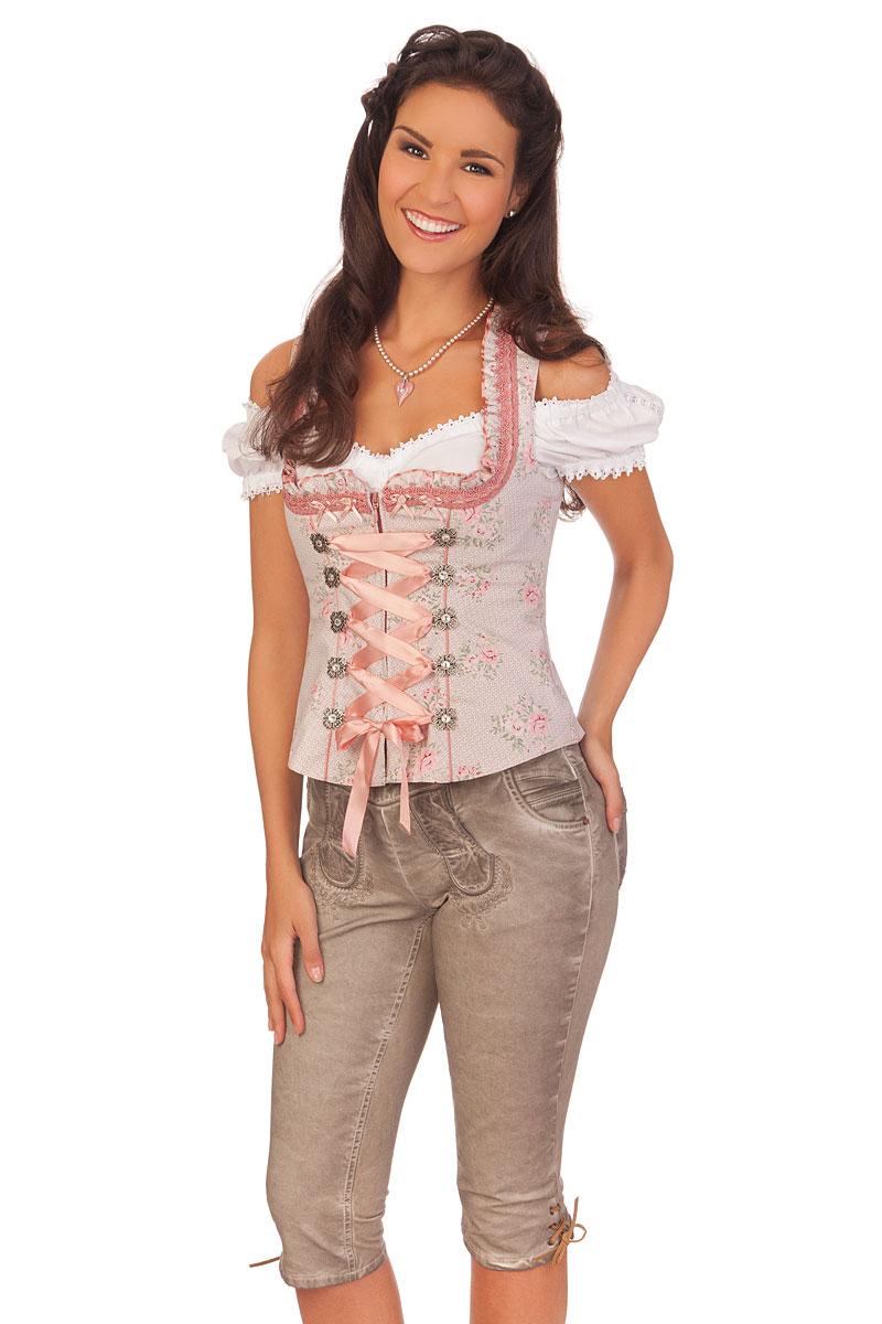 267159adda4c weitere Produktabbildung Hangowear Trachten Damen Kniebundhose Jeans -  NICOLE - beige