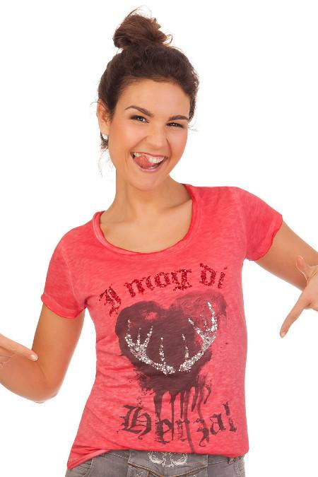 bb857f41337c93 Produktabbildung Hangowear Trachten Damen Shirt - INDIRA - rot. für Zoom  doppelt antippen