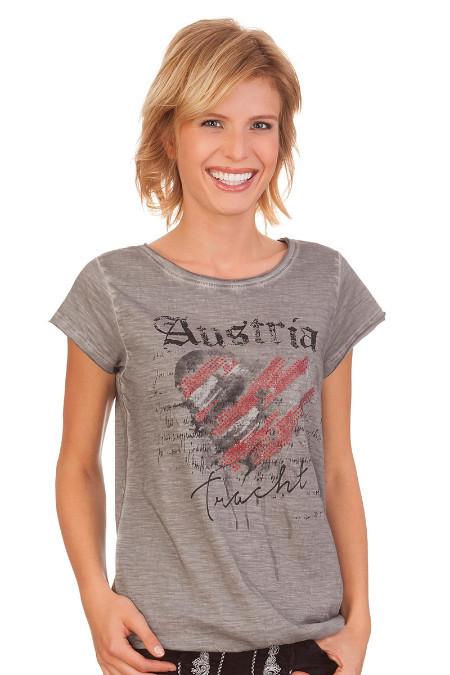 8b4ccb67d77118 Produktabbildung Hangowear Trachten Damen Shirt - INKA AUSTRIA - grau. für Zoom  doppelt antippen