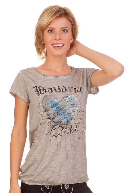 bca19f637198a8 Produktabbildung Hangowear Trachten Damen Shirt - INKA BAVARIA - hellgrau.  für Zoom doppelt antippen