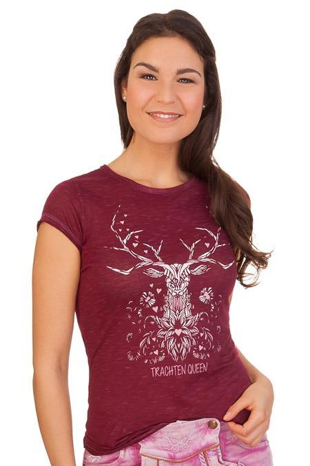 01d68c7db293d4 Produktabbildung Hangowear Trachten Damen Shirt - MUNCIE - weinrot. für Zoom  doppelt antippen