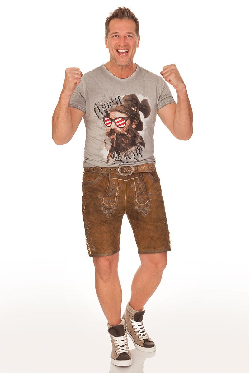 de3b6444e5e70a weitere Produktabbildung Hangowear Trachten Herren Shirt - BEPPI AUSTRIA -  grau