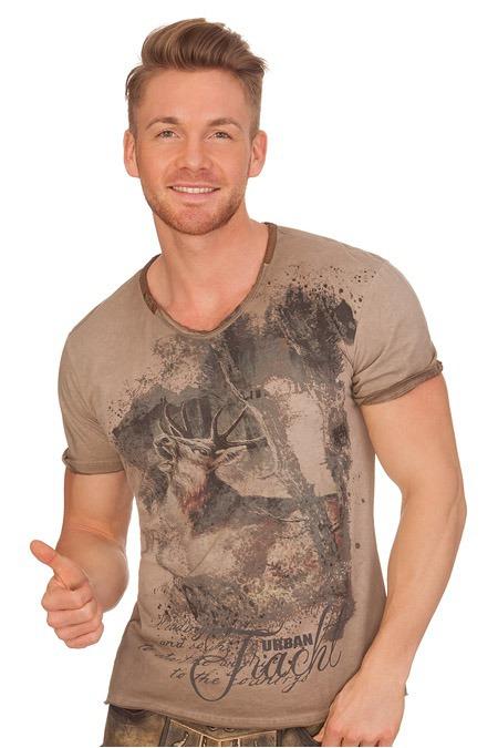 223162799ab230 Produktabbildung Hangowear Trachten Herren Shirt - BRYCE - braun. für Zoom  doppelt antippen