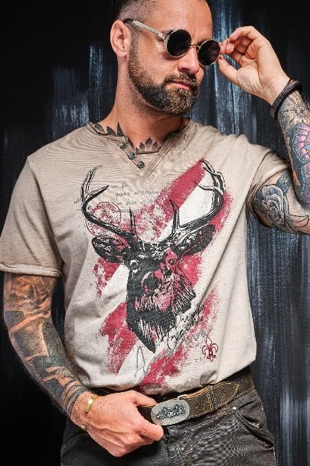 01f6e3a7db8247 Produktabbildung Hangowear Trachten Herren Shirt - FERDI AUSTRIA - braun