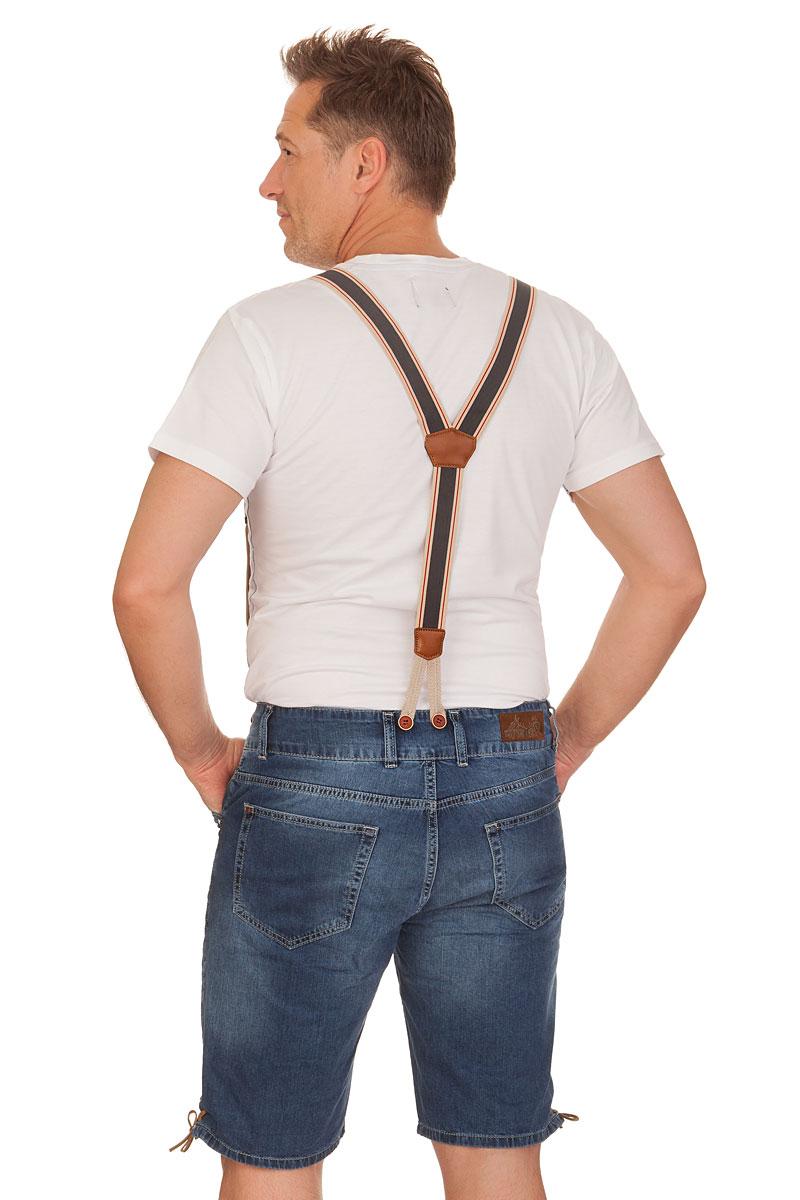 16dd6f50c9fc weitere Produktabbildung Hangowear Trachten Jeansshorts mit Hosenträger -  LEO - blau