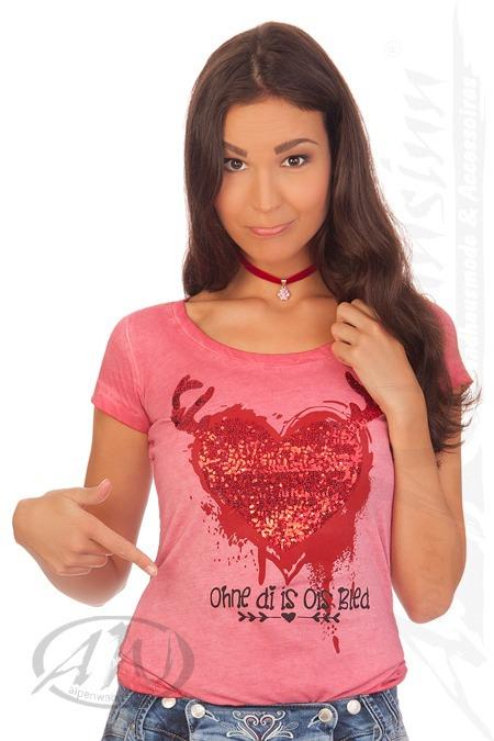 0fcaddef3eb910 Produktabbildung Hangowear Trachten Shirt 1 2 Arm - VELUXE ROT - rot. für Zoom  doppelt antippen