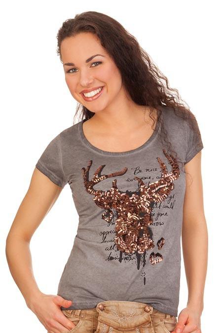 772213683d6f4f Produktabbildung Hangowear Trachten Shirt 1 2 Arm - VENCA - grau. für Zoom  doppelt antippen