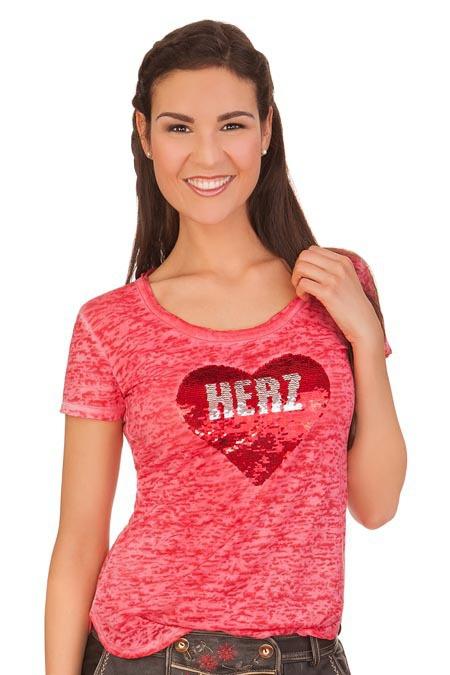 ff1dc08d5e1ecc Produktabbildung Hangowear Trachten Shirt - BELINDA - rot. für Zoom doppelt  antippen