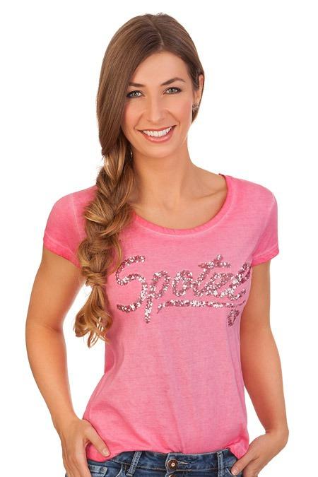 60f3afb9286214 Produktabbildung Hangowear Trachten Shirt - MARGRET - pink. für Zoom  doppelt antippen