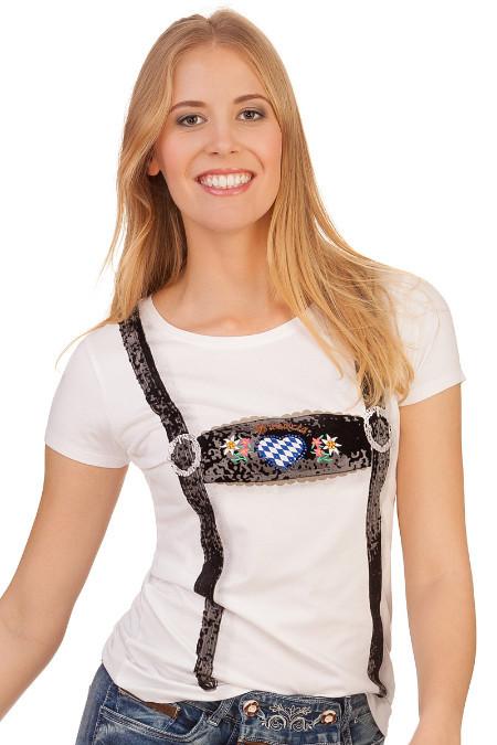9ab4171c476af0 Produktabbildung Hangowear Trachtenshirt Damen - RUBY BAVARIA - weiß. für Zoom  doppelt antippen