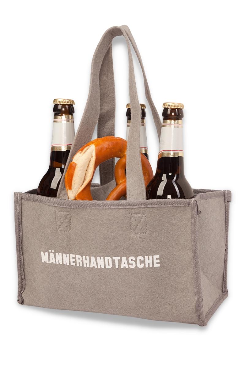 heimatkuss flaschentasche - mÄnner - handtasche - grau online kaufen