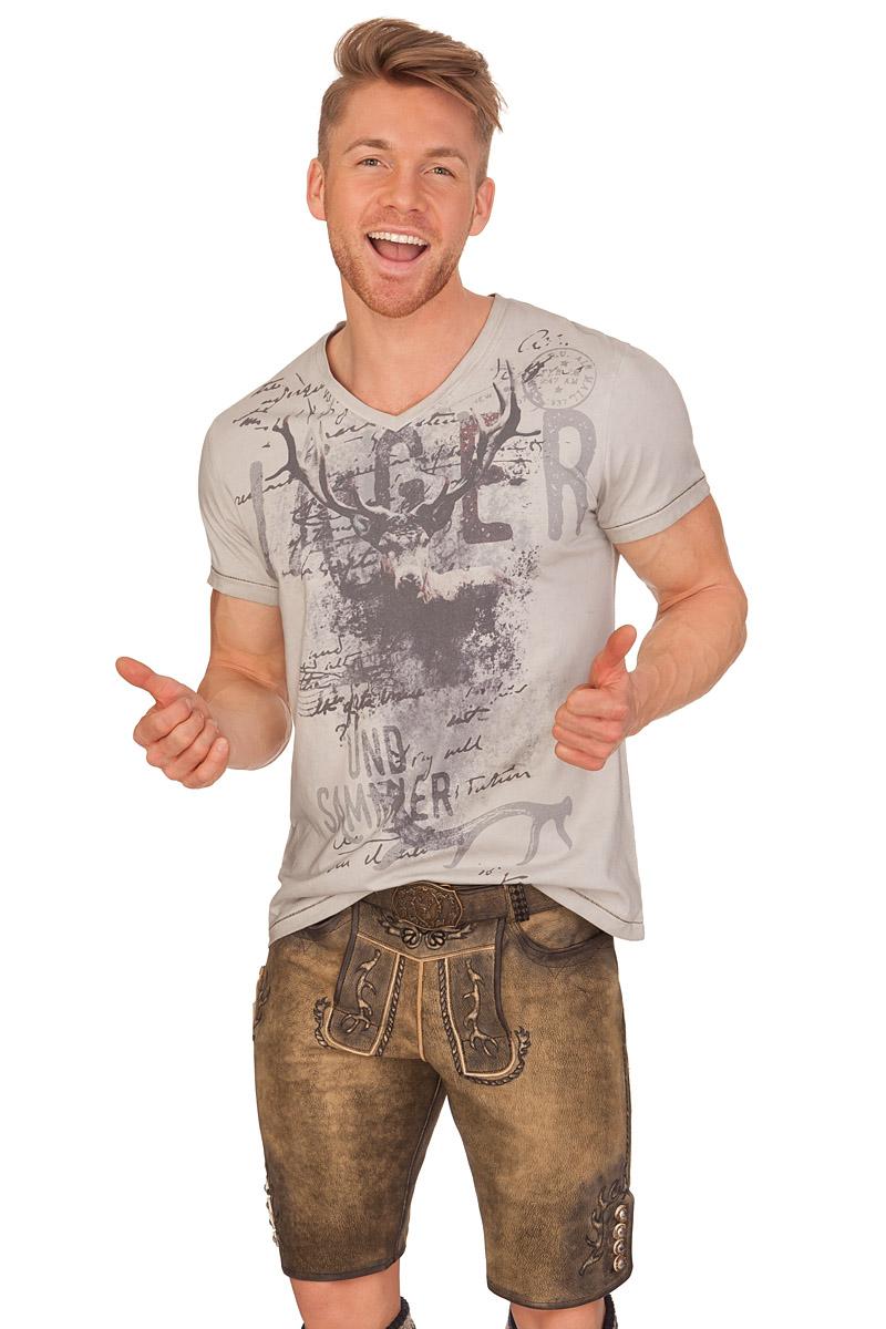 6b4ca9e7fd68f0 weitere Produktabbildung Krüger Buam Trachten Herren Shirt - PIRSCH -  hellgrau
