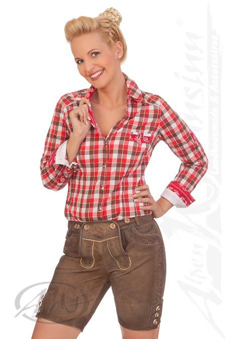 116b61d03d04f2 Produktabbildung Krüger Collection Trachten Damen Lederbermuda - SIGRID -  braun
