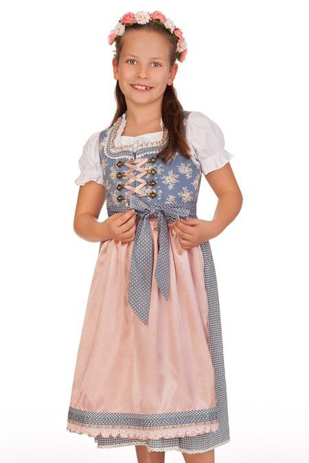 0c20eb388091bb Produktabbildung Krüger Kids Trachten Kinder Fest Dirndl 3tlg. - PRINCESS -  hellblau