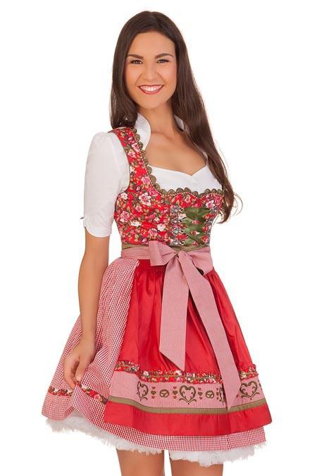 26020ec0c3c154 Krüger Madl Mini Dirndl 2tlg. - DUNJA - rosé, rot online kaufen ...