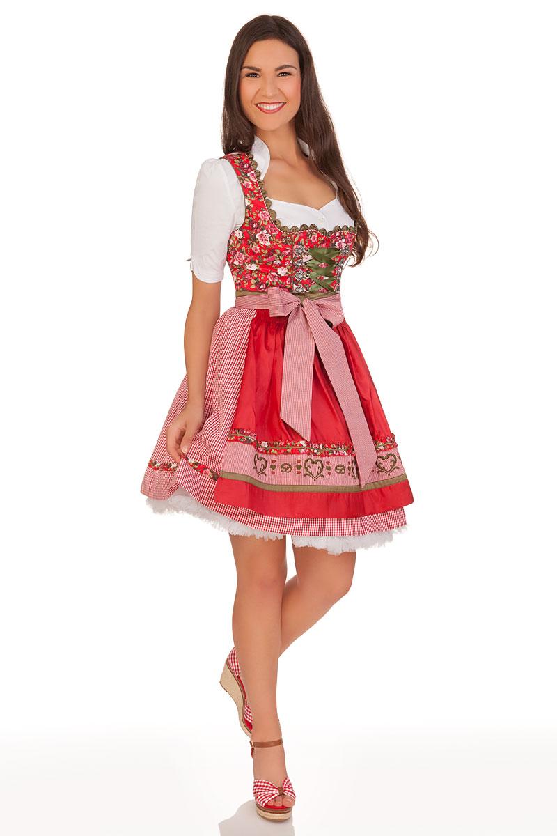 1154af701b6fc7 weitere Produktabbildung Krüger Madl Mini Dirndl 2tlg. - DUNJA - rosé, rot