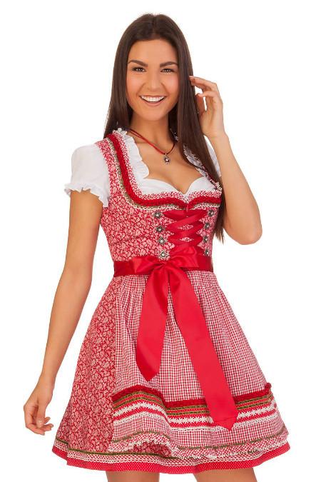 35649bd9f667df Minidirndl in rot | Unsere Minidirndl Auswahl in frechem Rot