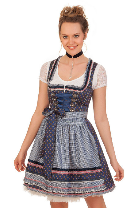 3e37135fe8fcf4 Krüger Madl Mini Dirndl 2tlg. - ROSABELLA - blau online kaufen ...