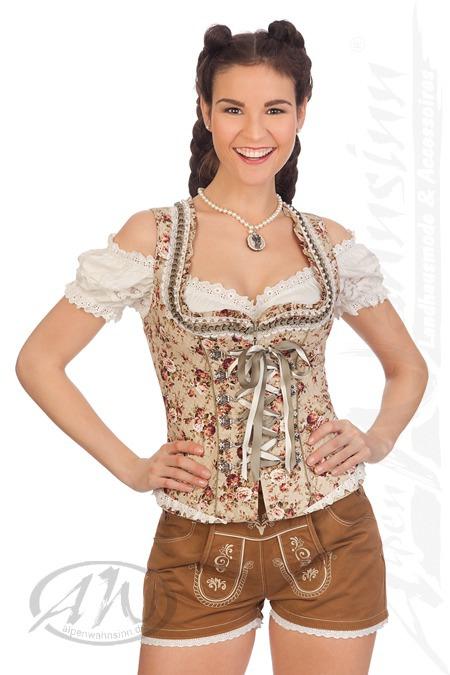 Krüger Madl Trachten Damen Hose kurz - GINA - braun online kaufen ... 82d3d46bf6