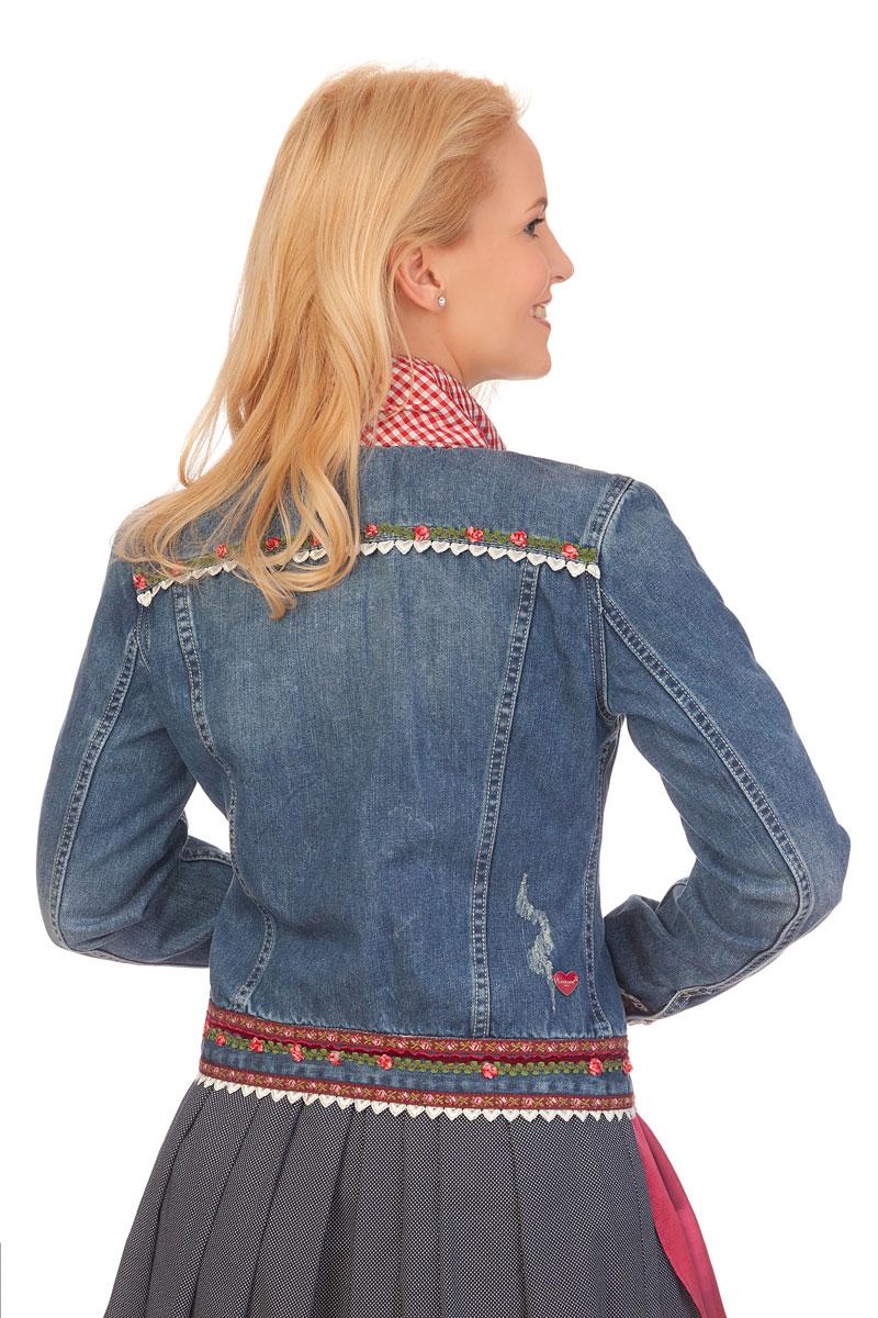 Trachtenjacke Damen Trachtenjacke Damen Jeansblau Dafne 0wOnPk8