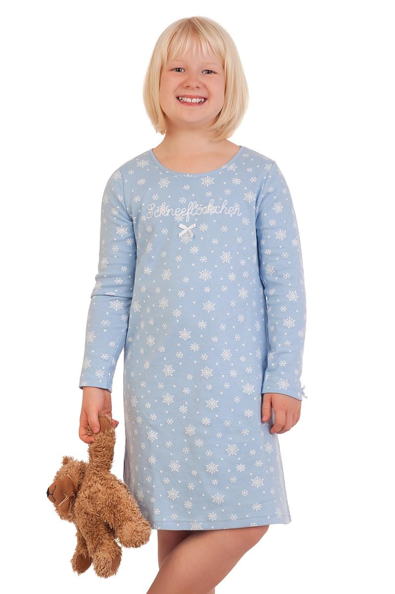neuer Stil & Luxus auf Füßen Aufnahmen von gesamte Sammlung Nachthemd Kinder - SCHNEEFLOCKE - hellblau, rot