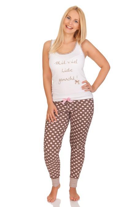 online retailer 6b4da 8a1bc Pyjama Damen - MIT VIEL LIEBE - nougat
