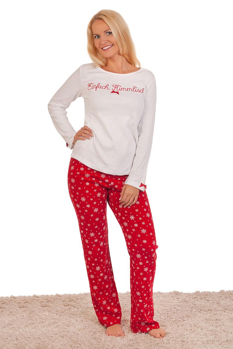size 40 1d236 0188b Trachten Damen Pyjama - EINFACH HIMMLISCH 2 - weiß