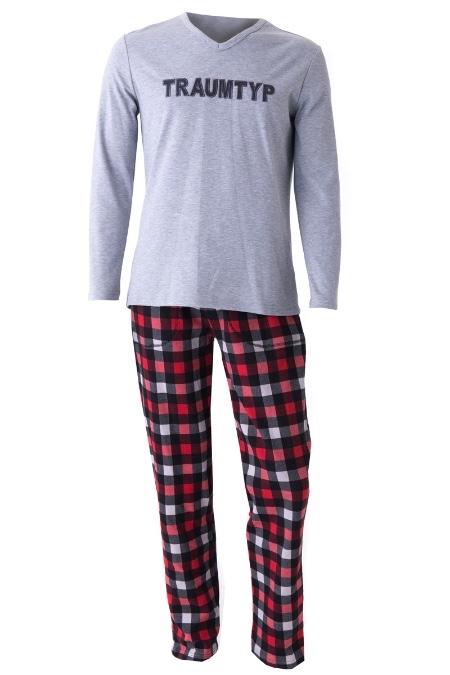 f9419cdd0ac106 Produktabbildung Louis & Louisa Trachten Herren Pyjama - TRAUMTYP - grau