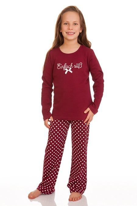 3dca82847d7137 Produktabbildung Louis & Louisa Trachten Kinder Pyjama - EINFACH SÜSS -  weinrot