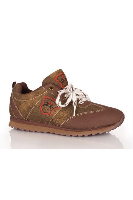 info for a9e95 40f00 Trachten Herren Sneaker - TOBIAS - braun