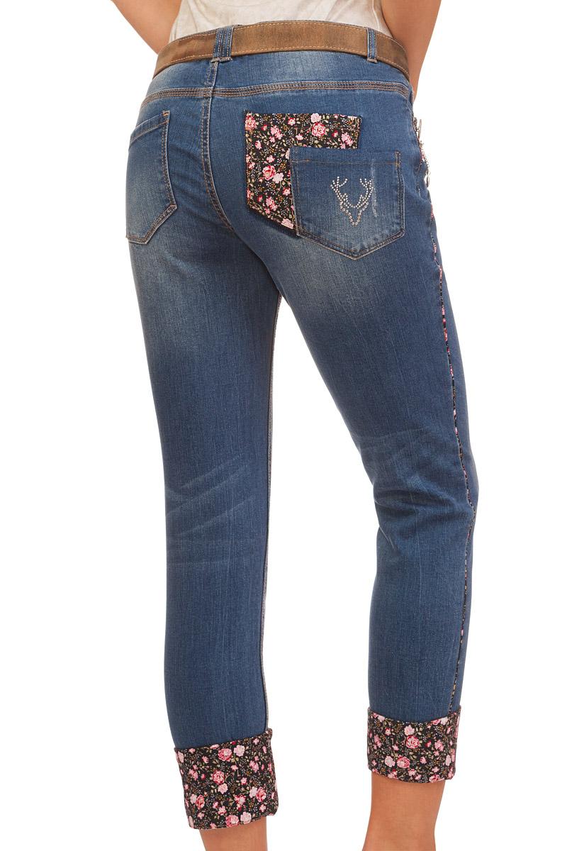 marjo trachten damen hose 7 8 dakota rita blau online kaufen jeans lang. Black Bedroom Furniture Sets. Home Design Ideas