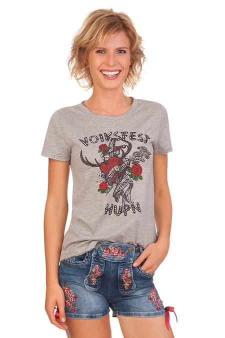 5606a7306d09 Marjo Trachten Damen Jeansshorts - Rose - blau online kaufen, Jeans ...