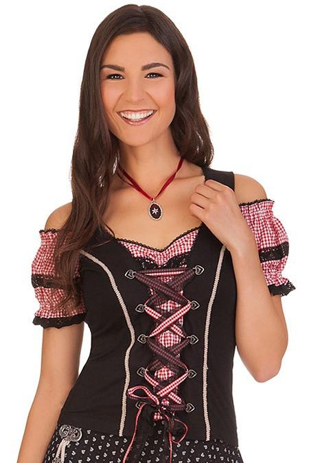 e65fb34456efc Trachtenshirt Damen - EDITA-LILLY - schwarz