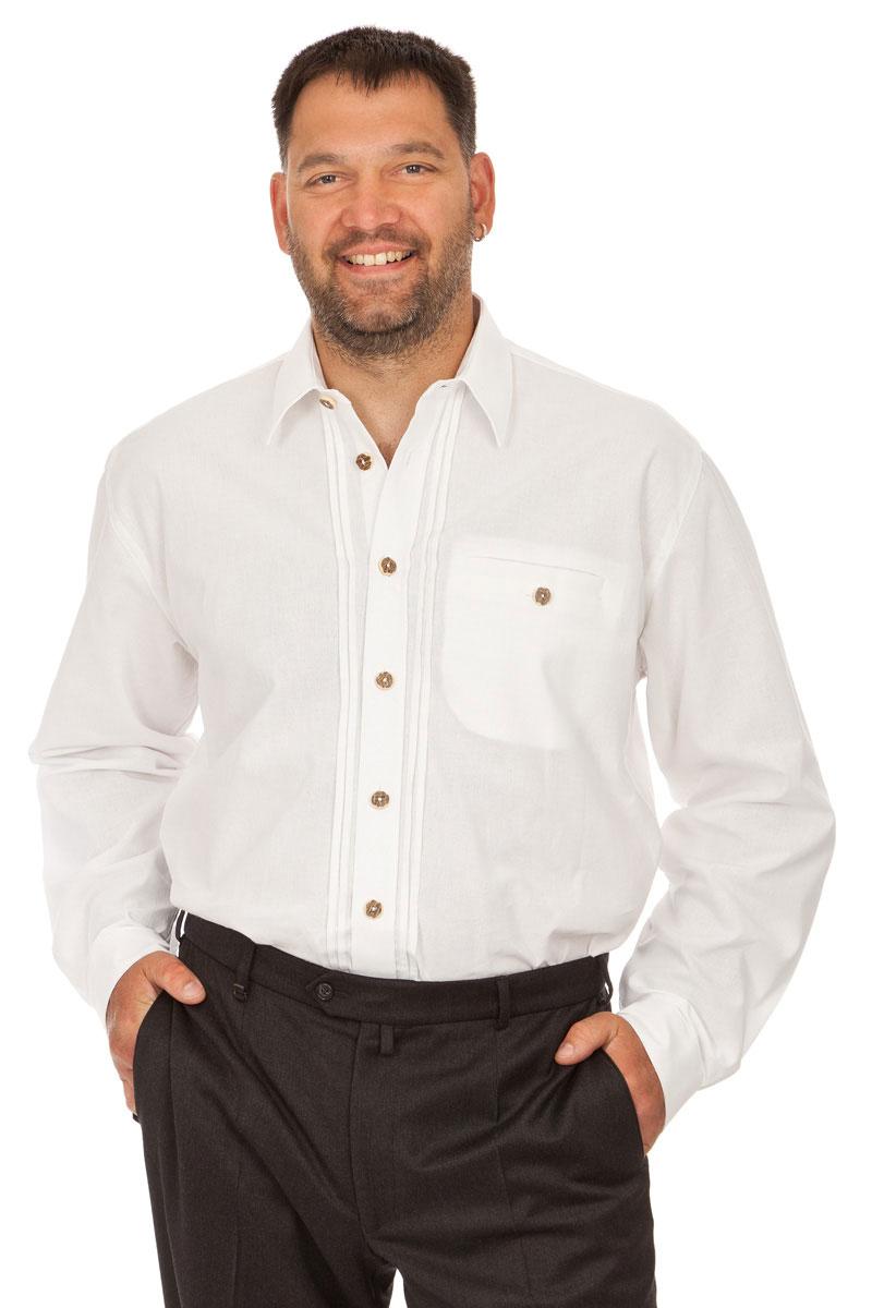 Trachtenhemd H0106 weiß