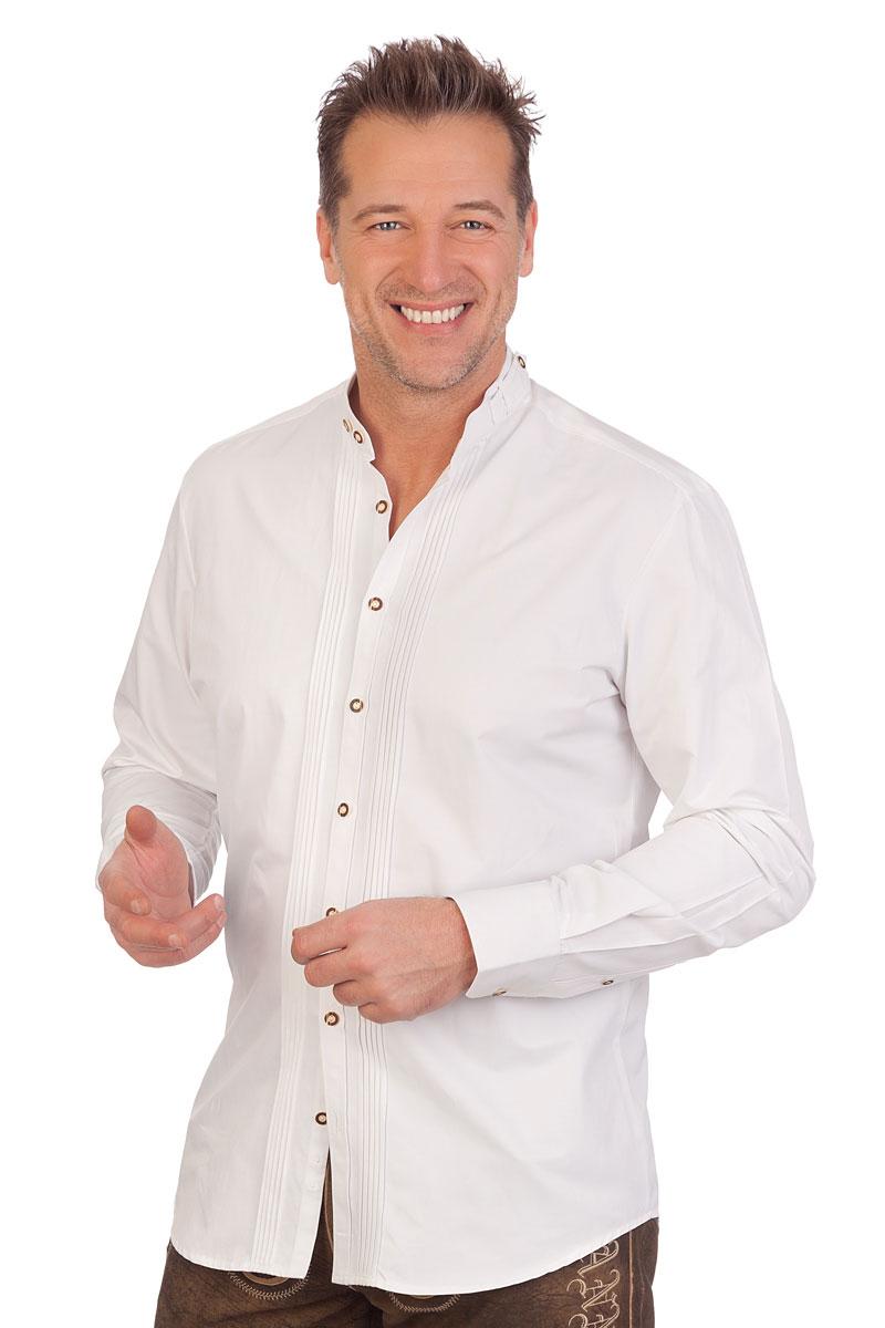 Trachtenhemd H1635 weiß