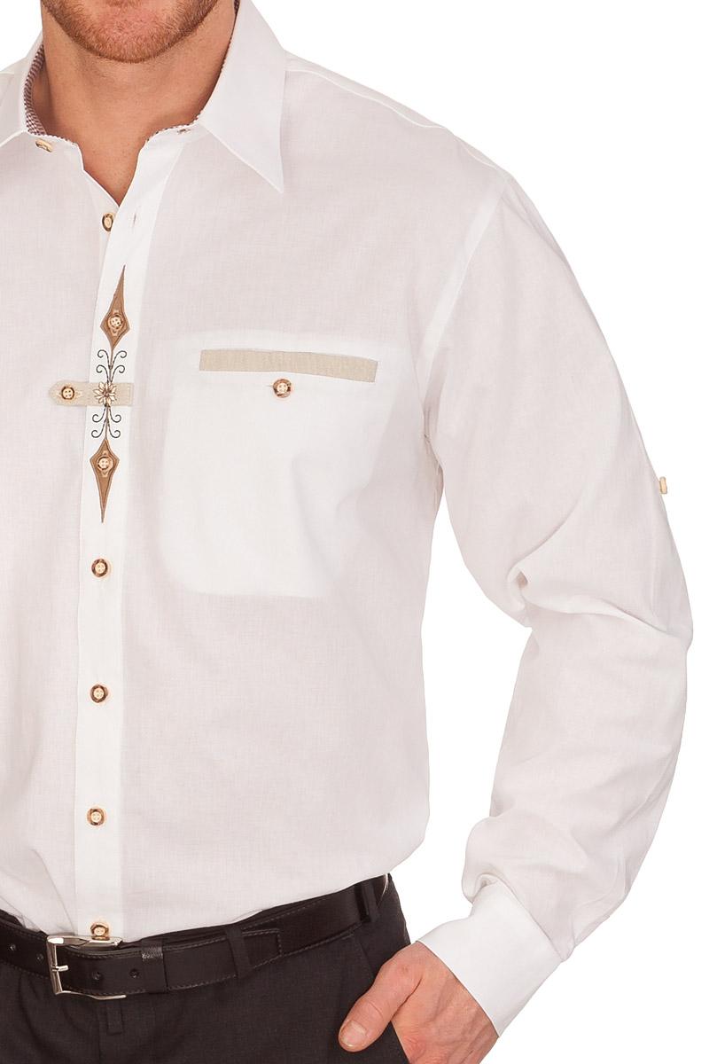 weitere Produktabbildung Orbis Trachtenhemd mit langem Arm - SEBASTIAN -  weiß a028c775af