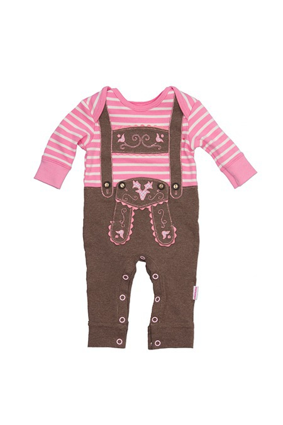 542d8892ab8a9 Baby Strampler Mädchen - LEDERHOSE MADL - rosa