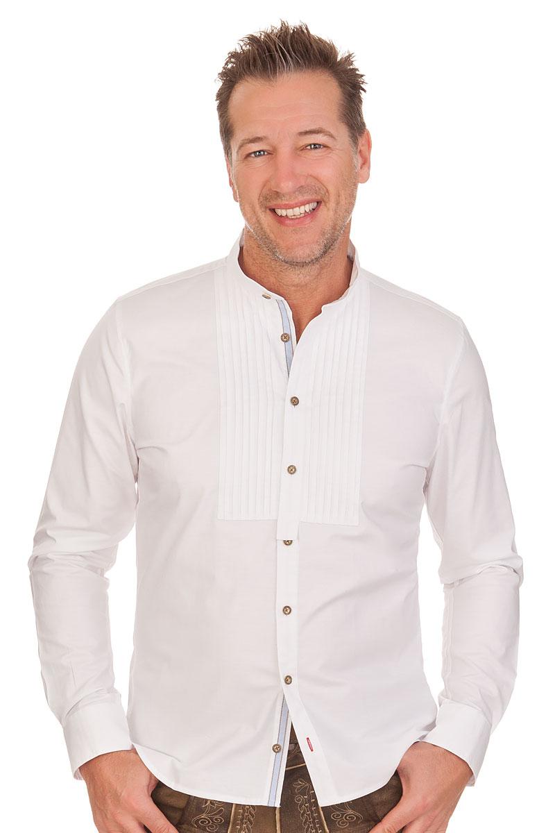 Produktabbildung PURE Trachtenhemd mit langem Arm - RUBEN - weiß. für Zoom  mit der Maus überfahren 5a892f9d03