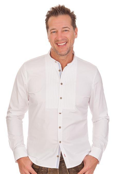 Produktabbildung PURE Trachtenhemd mit langem Arm - RUBEN - weiß 678329abeb