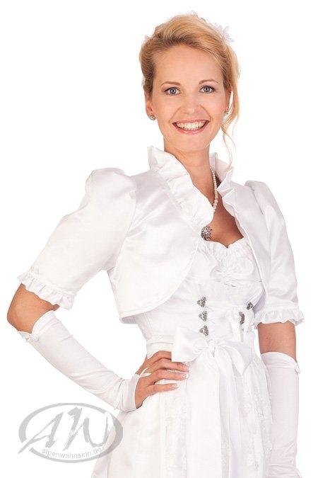 34245dc85fc28a SB-Tracht Damen Trachten Bolero - HOCHZEIT - weiß online kaufen ...